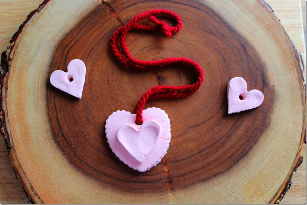 Valentine's Day Air Dry Clay Hearts