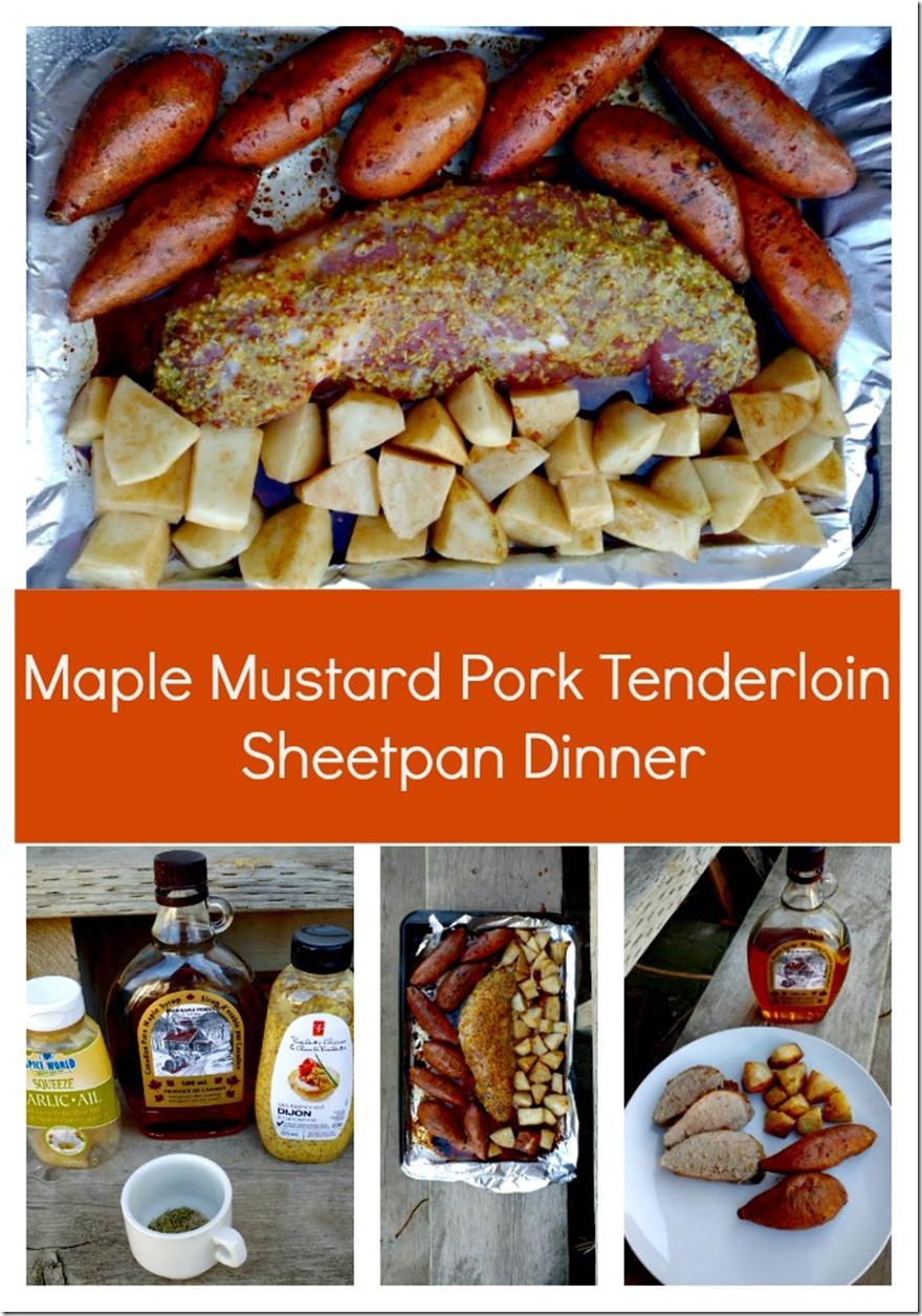 Maple Mustard Pork Tenderloin Sheetpan Dinner Recipe