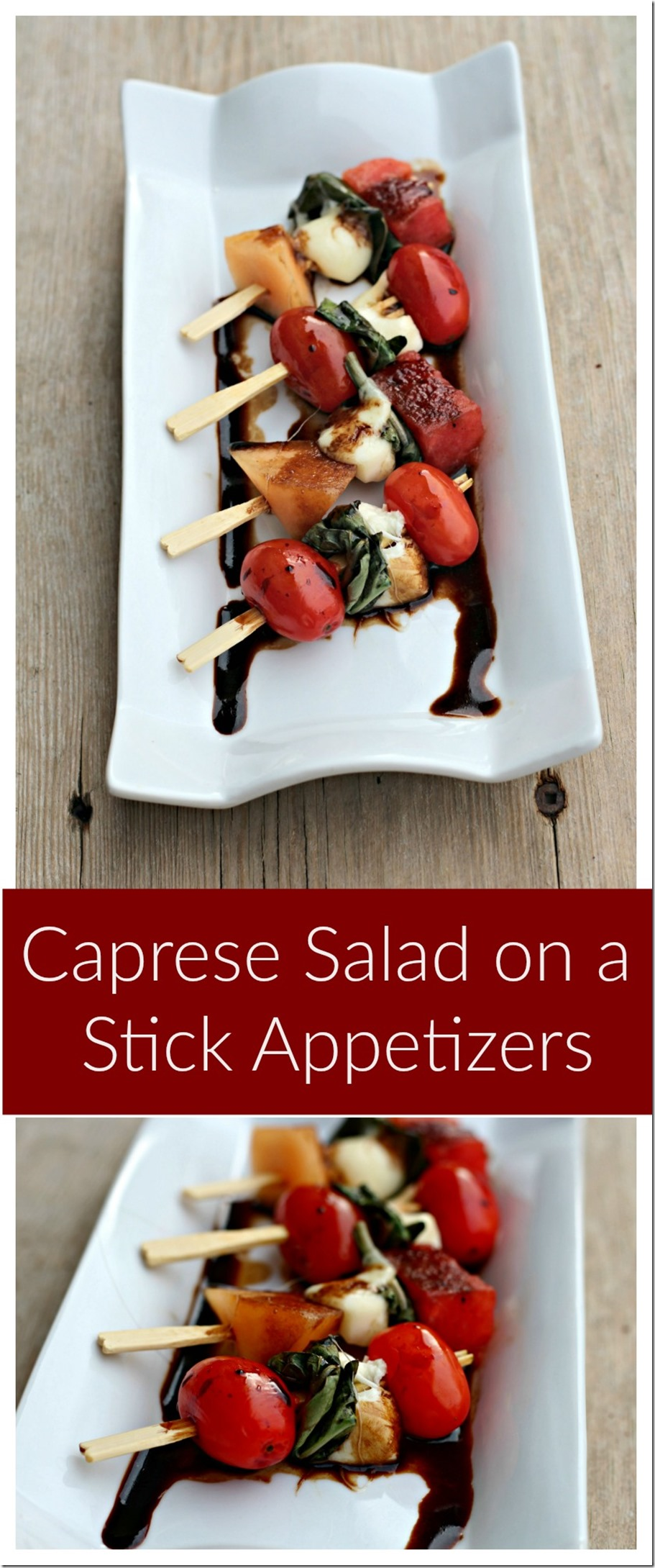 caprese salad on a stick appetizers - perfect for a picnic or bbq