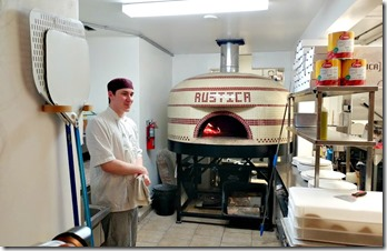 pizza oven at rustica