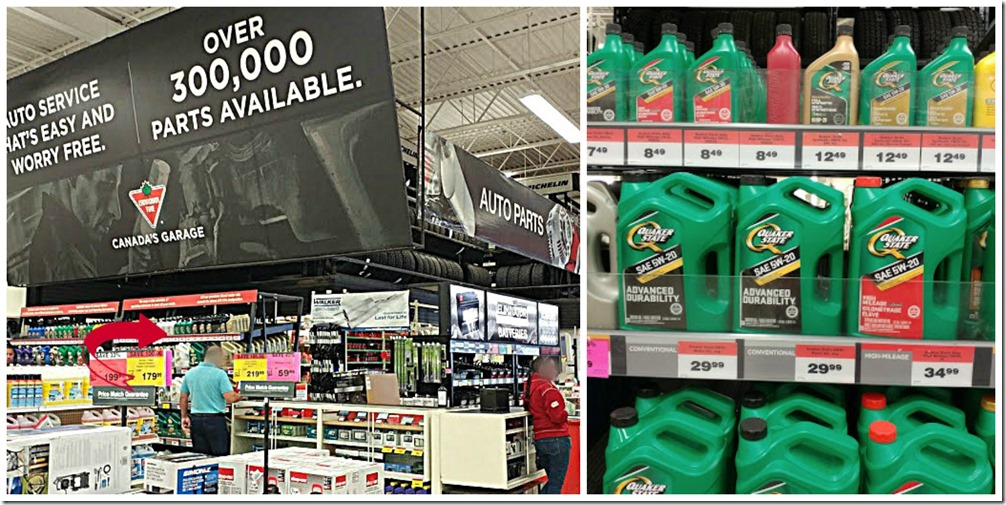 Quaker State Oil at Canadian Tire