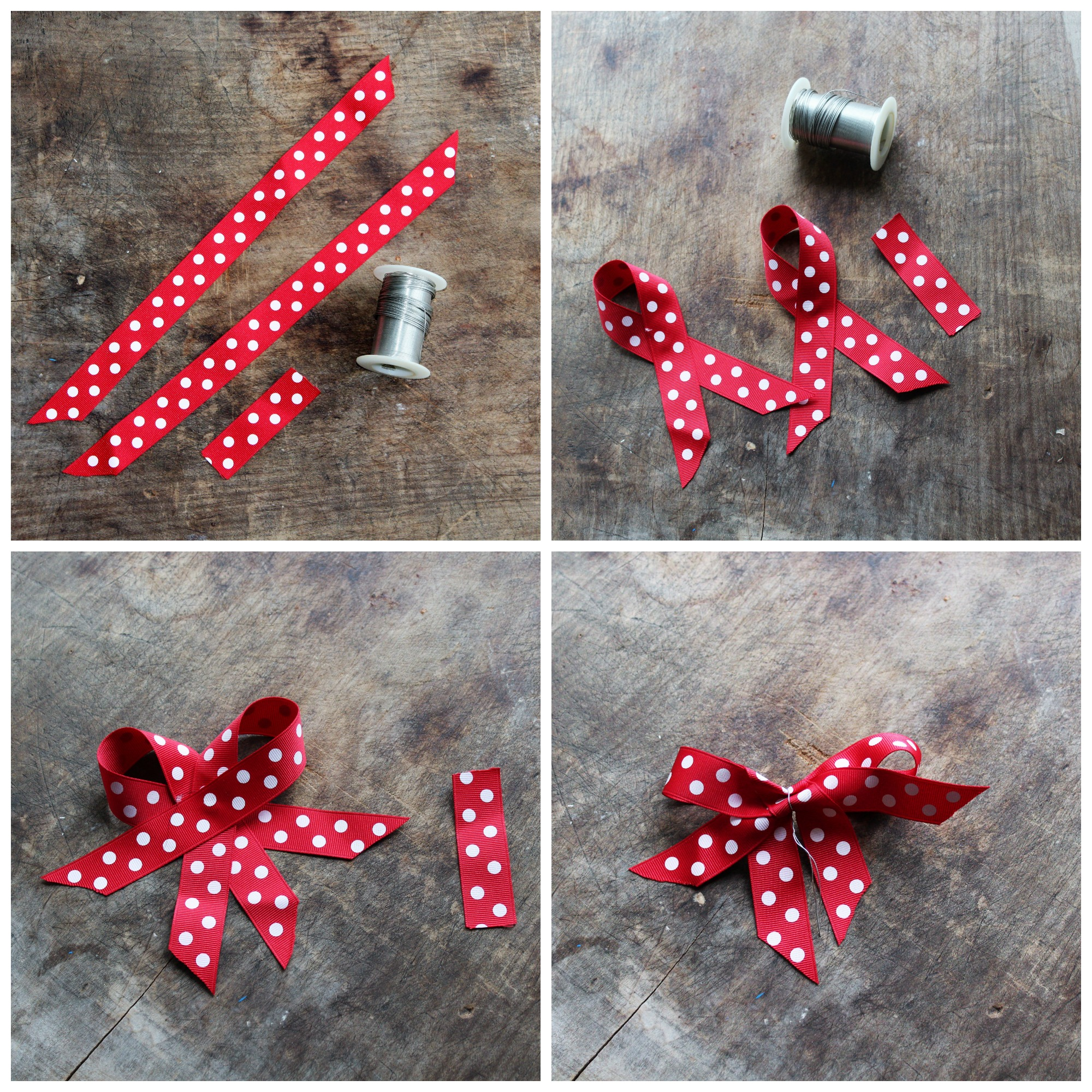 how to make a bow out of ribbons tutorial