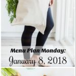 Menu Plan Monday: January 8, 2018
