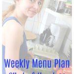 Menu Plan Monday Week of March 26