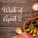 Menu Plan Monday Week of April 2