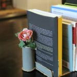 Upcycled DIY Flower Vase Bookends