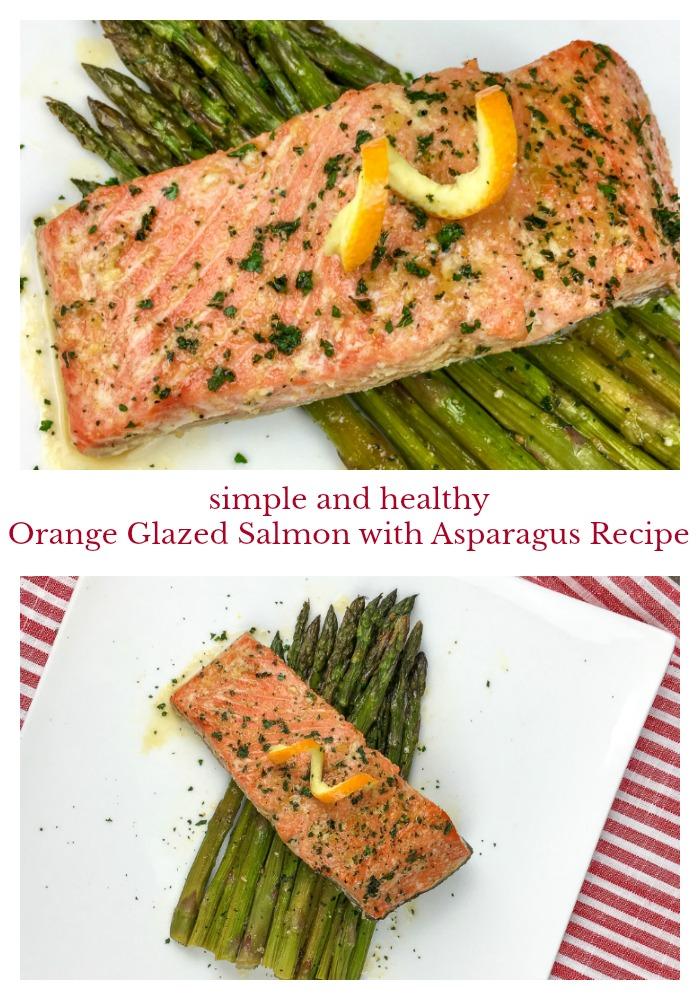 Simple Healthy Orange Glazed Salmon with Asparagus Recipe