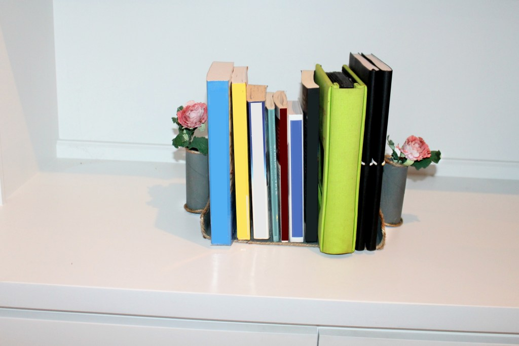 bookends made from cardboard box