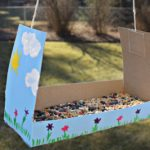 DIY Hand Painted Bird Feeder