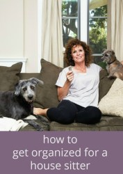How to Get Organized for a House Sitter