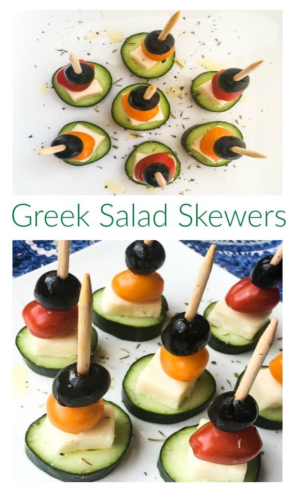 quick and super simple greek salad skewers