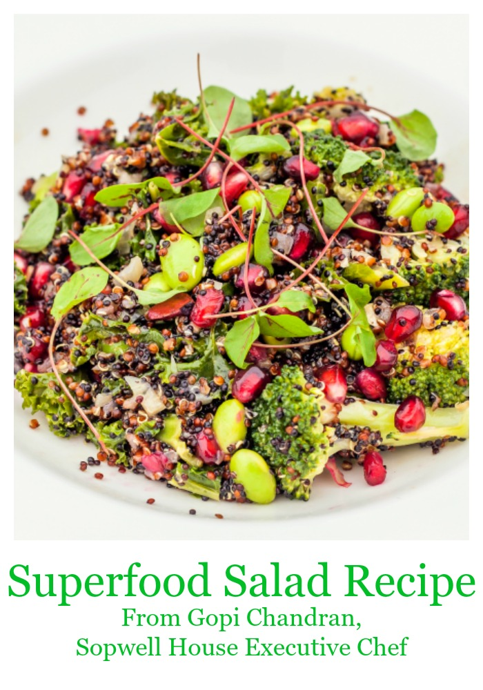 Superfood Salad Recipe from Gopi Chandran, Sopwell House Executive Chef