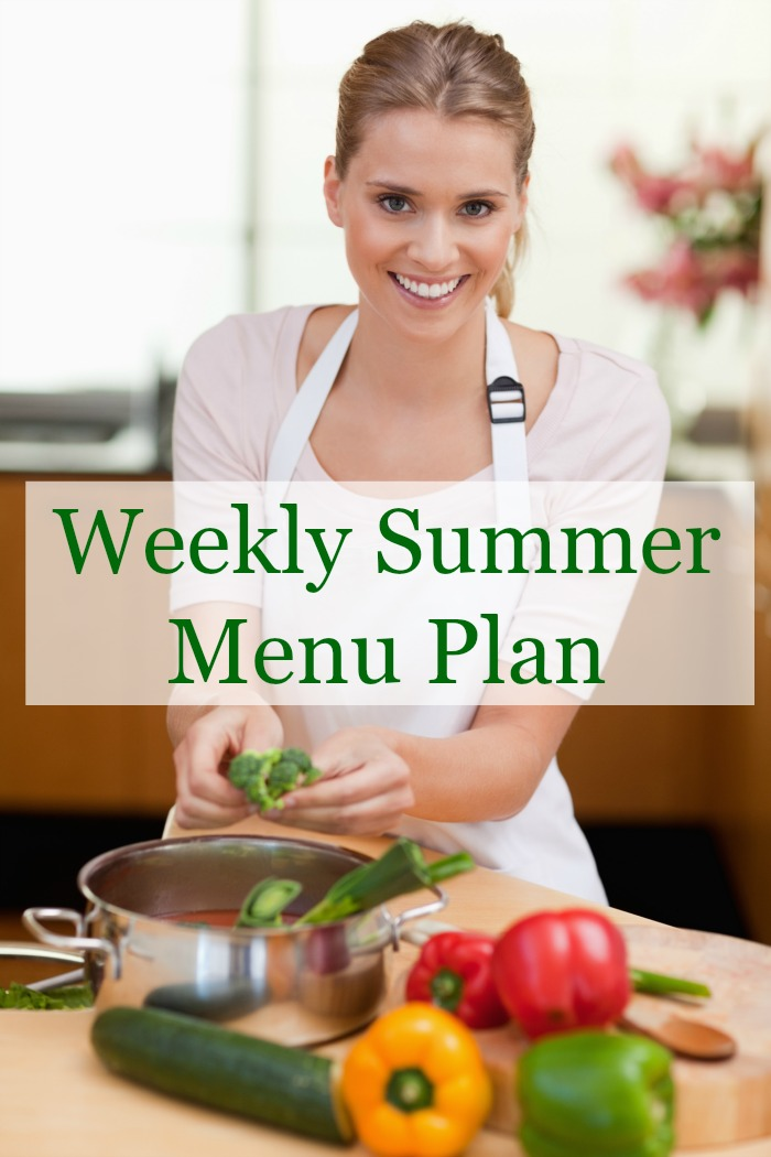weekly summer menu plan
