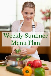 Weekly Summer Menu Plan August 20