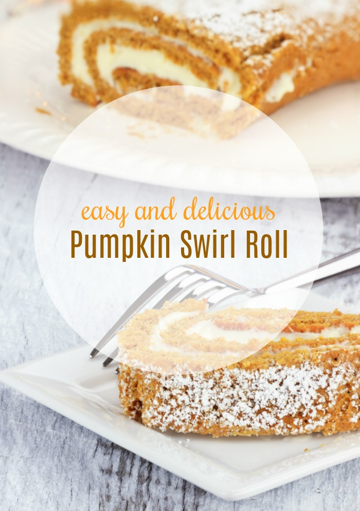 easy pumpkin swirl roll with cream cheese filling recipe