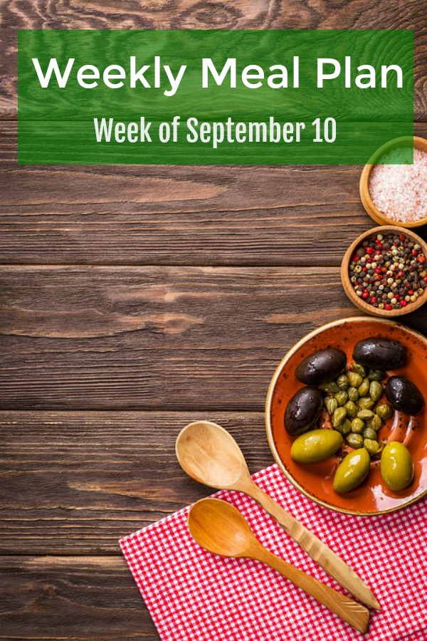 weekly meal plan september 10