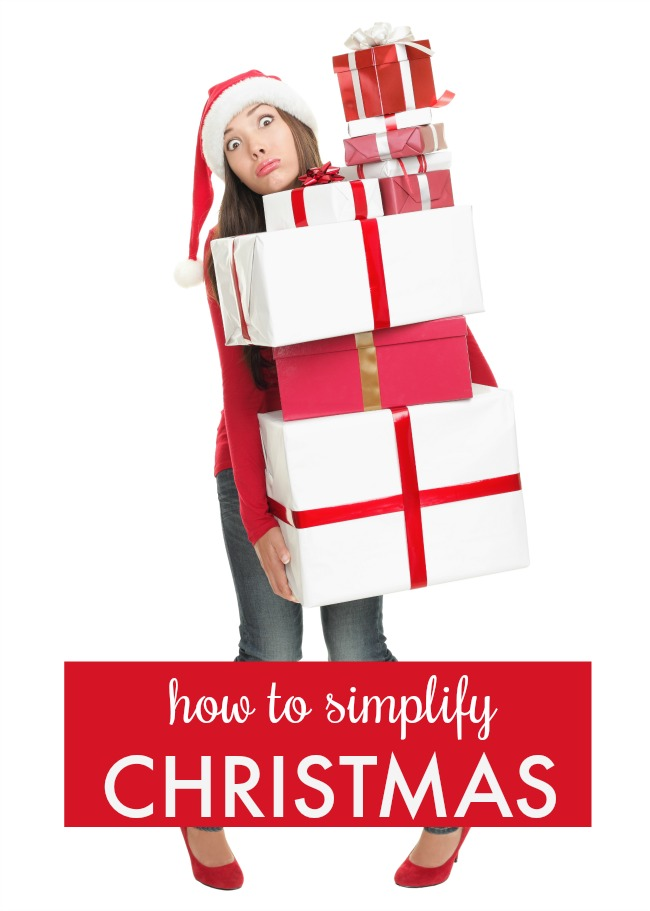 how to simplify christmas