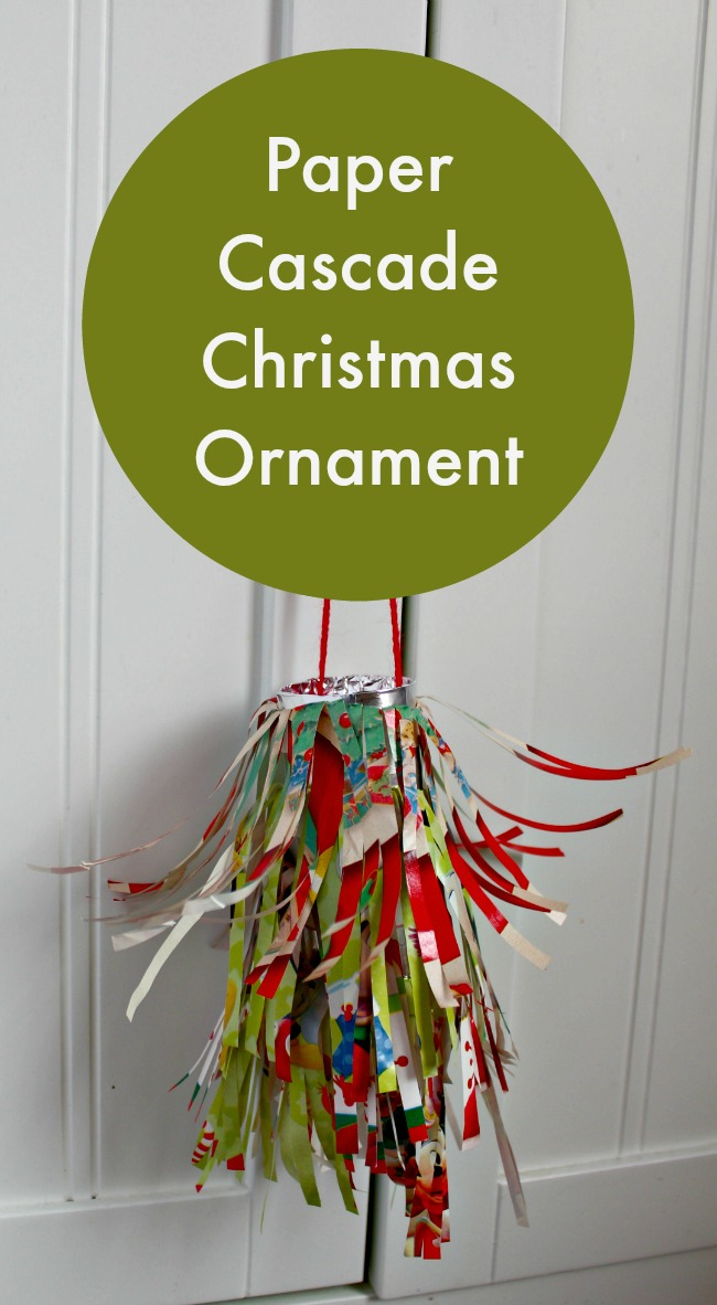 paper cascade christmas ornament