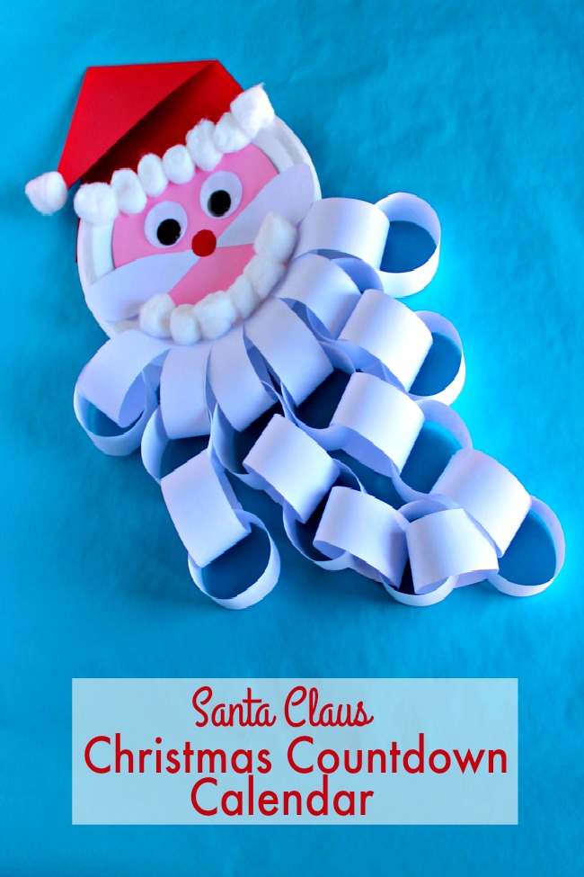 santa claus christmas countdown calendar