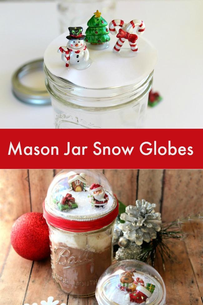 Mason Jar Snow Globes Make a Great Gift