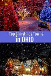 top christmas towns in ohio