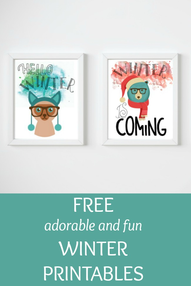 free adorable fun winter printables