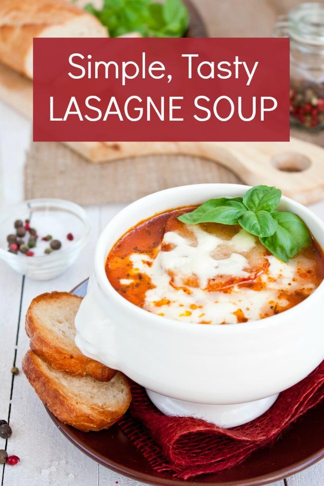 simple tasty lasagne soup