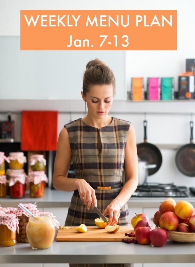 weekly menu plan january 7