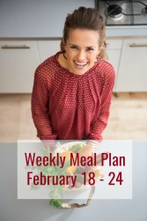 weekly meal plan february 18