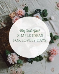 simple ideas for lovely days march 18