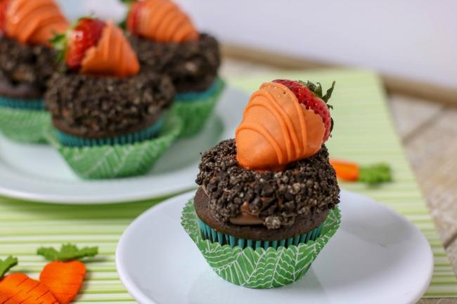 super cute carrot patch cupcakes