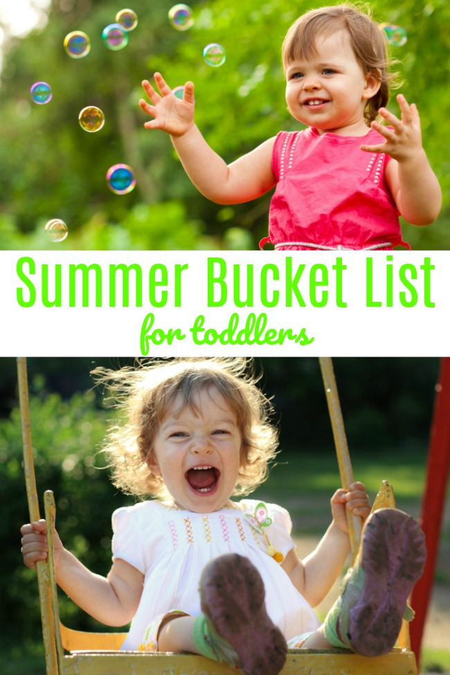 fun summer bucket list for toddlers