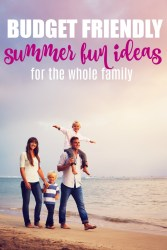 budget friendly summer fun ideas