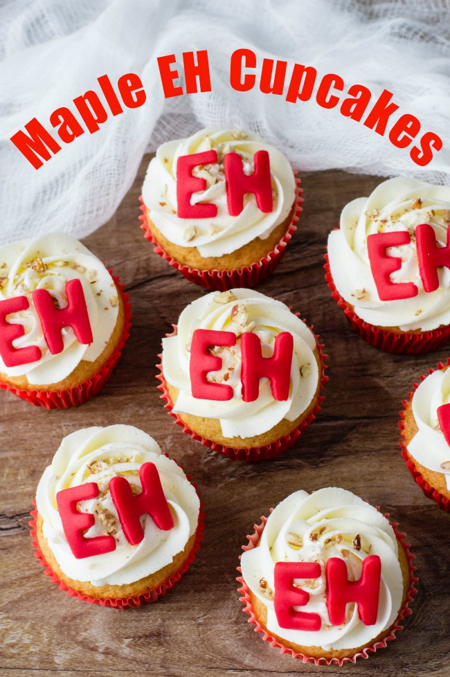 Maple Cupcakes perfect for Canada Day eh!