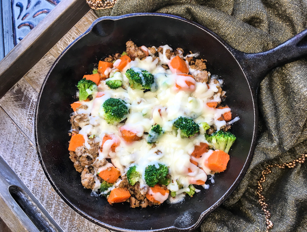 quick and easy turkey and sweet potato skillet
