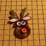 Paper Quilled Rudolph Reindeer Ornament