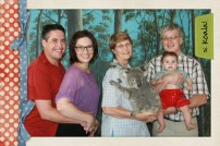 The whole happy family. With a koala.