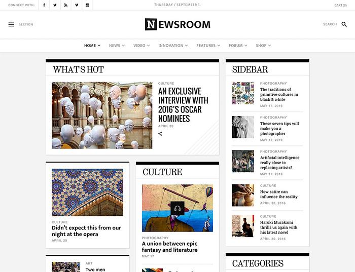 Newsroom - Newspaper Theme