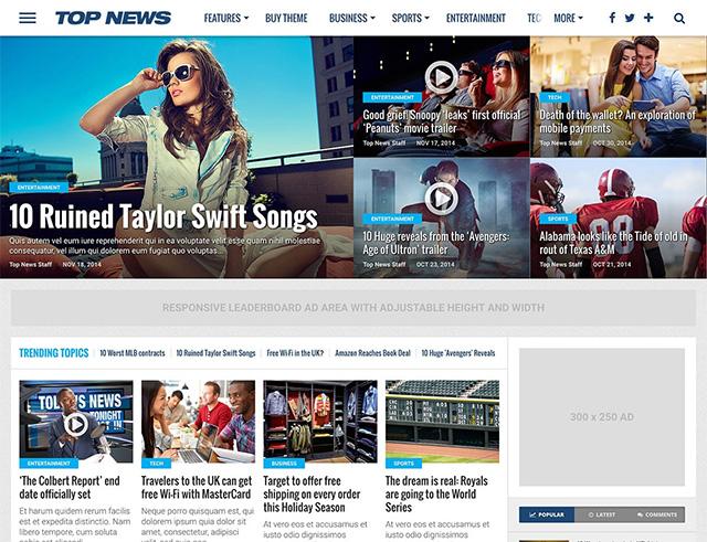 Top News - WordPress News & Magazine Theme