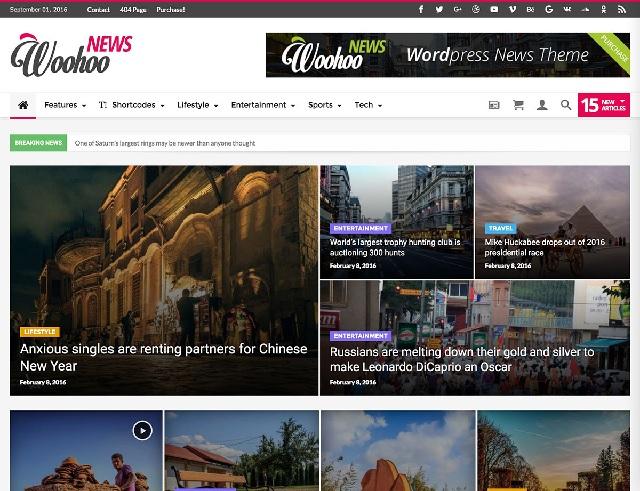 Woohoo News - Newspaper Magazine News AMP Multipurpose