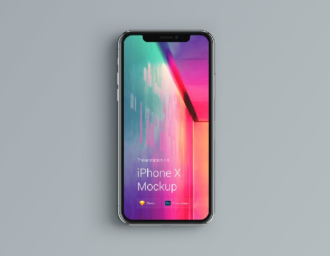 Free iPhone Multicolor Mockup