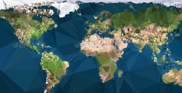 Triangled Vector World Map