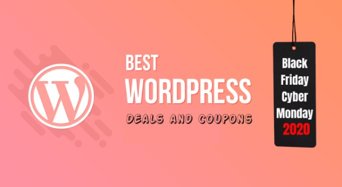 Black Friday and Cyber Monday WordPress Deals 2020