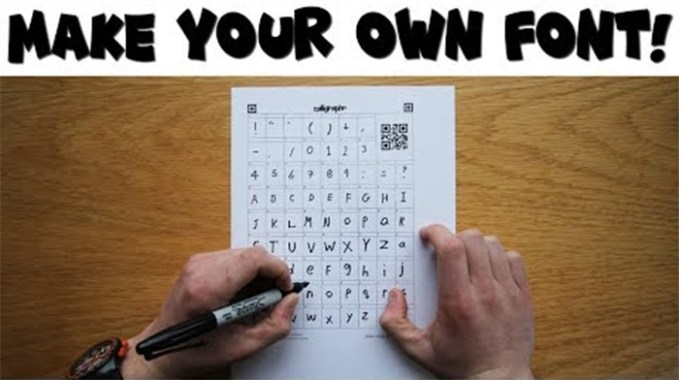 6 Steps to Make Your Own Font