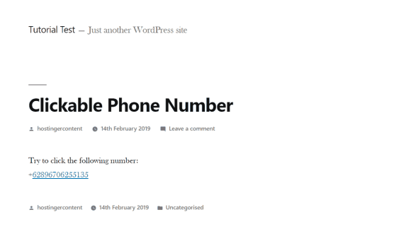 Phone number clickble