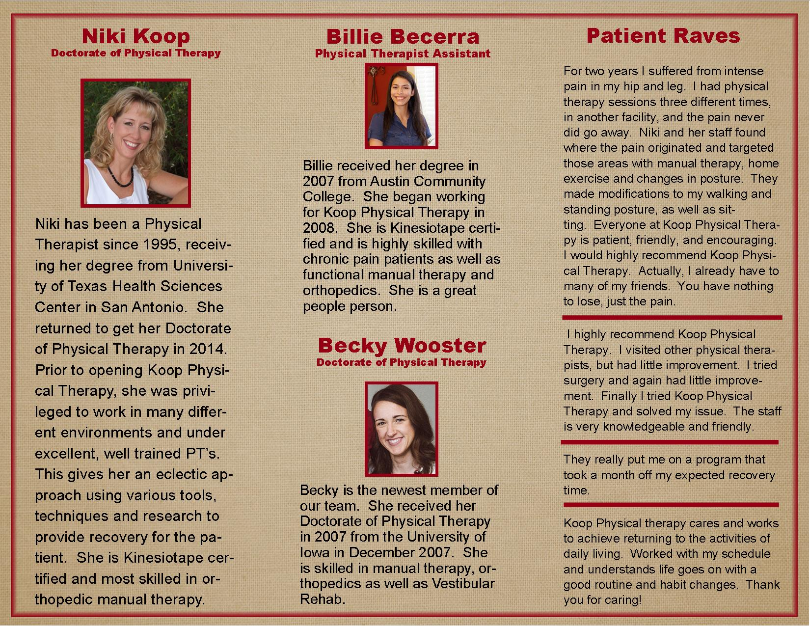 Http://creativedesignstexas.com/images/sample Brochures/kooppt Brochure  Inside
