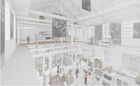 5 High Mill ground floor view of open collections cmp