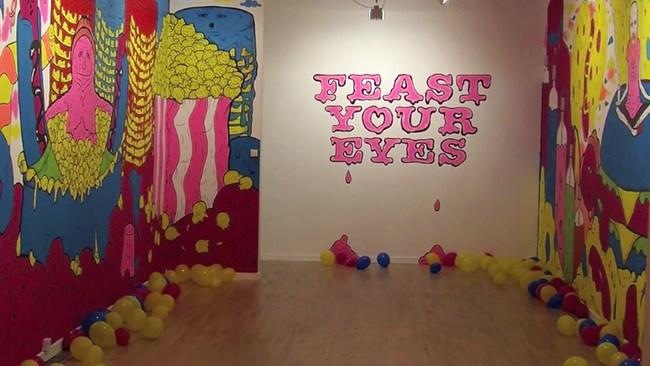 363917-feast-your-eyes-installation-at-peacock-visual-arts-aberdeen-by-hell-yeah-artists-katie-guthrie-and