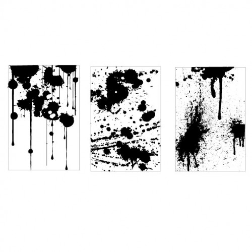 Paint Splat Trio Stamp