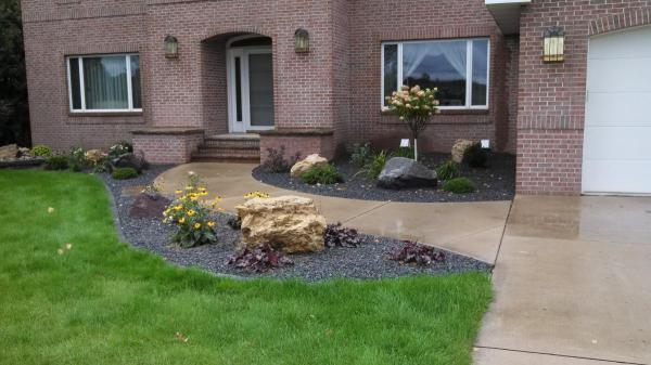 edging decorative rock mulch